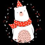 Medvídek s šálou