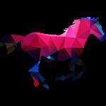 Kůň z polygonů